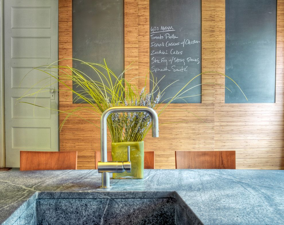 Sugatsune for a Contemporary Kitchen with a Chalkboard Walls and Chestnut Hill Kitchen by Buckminster Green Llc