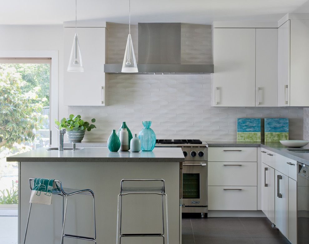 Sugatsune for a Transitional Kitchen with a Natural Light and Tiburon Home by Shirley Parks Design
