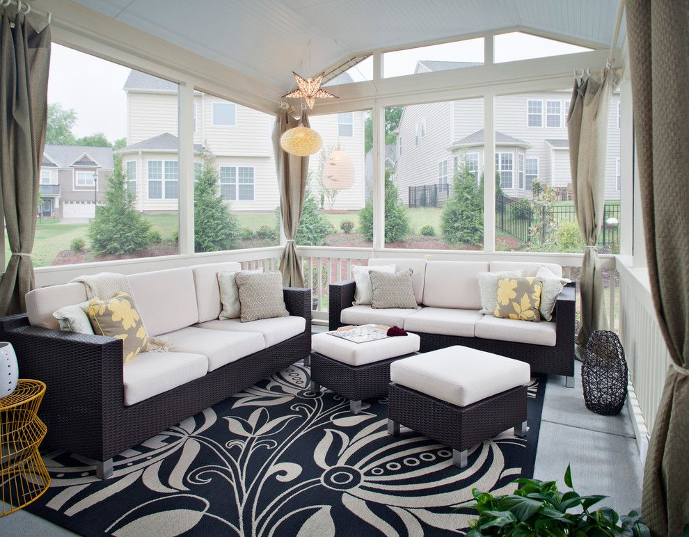 Sunroom Decorating Ideas For A Porch With A Screened In Porch And Outdoor  Living Retreat