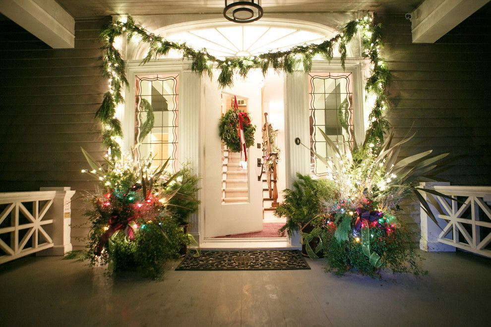Sunroom Decorating Ideas for a Traditional Entry with a Lights and Christmas Decor by Scott Neste | Minor Details Interior Design