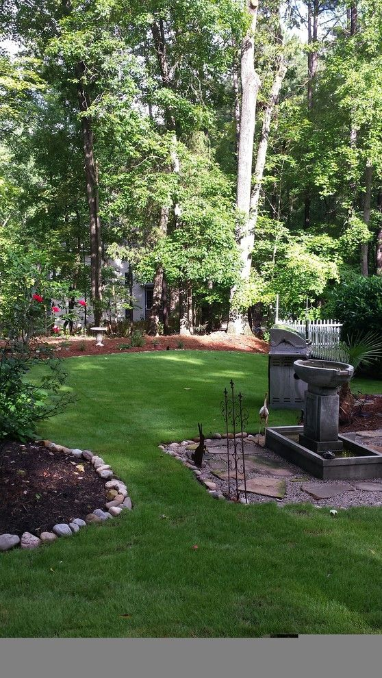Super Sod for a Contemporary Landscape with a Zoysiagrass and Emerald Zoysia in Dappled Shade by Super-Sod
