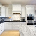 Super White Quartzite for a Traditional Kitchen with a Double Oven and Traditional Kitchen by Narfinecarpentry.com