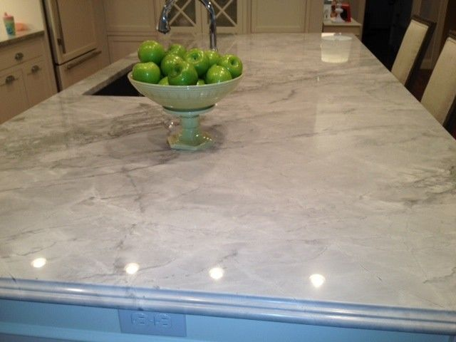 Super White Quartzite for a Traditional Kitchen with a Super White Quartzite and Sarah Baron Home by Sarah Baron Design
