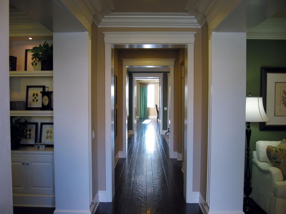 Superior Moulding for a Traditional Hall with a Crown and Trim Details by Superior Moulding of Nevada