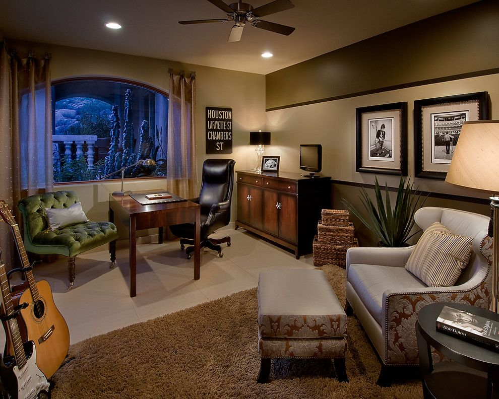 Supersod for a Contemporary Home Office with a Rug and Ownby Design by Ownby Design