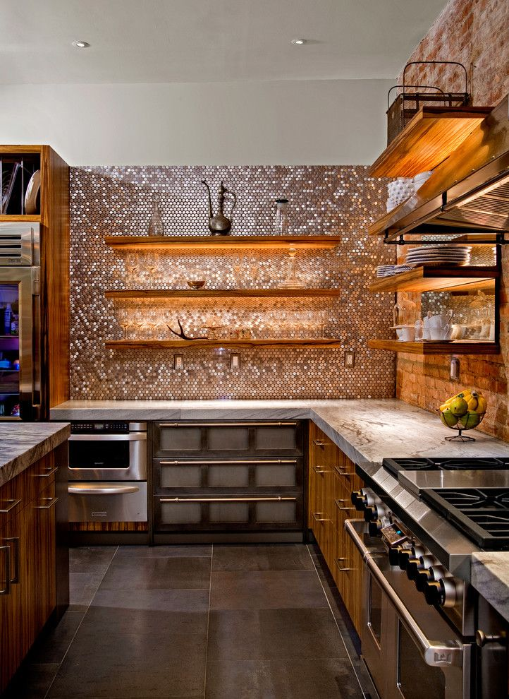 Supersod for a Contemporary Kitchen with a Bar Pulls and Nyc Gem by Superior Woodcraft, Inc.