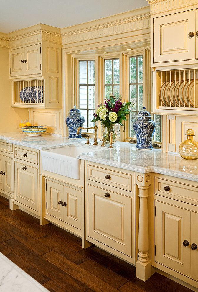 Supersod for a Traditional Kitchen with a Cabinetry and Cheerful Formality by Superior Woodcraft, Inc.