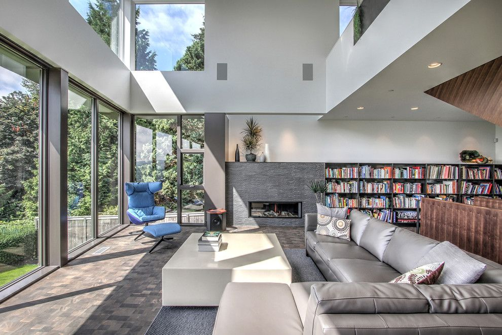 Sutter Home and Hearth for a Contemporary Living Room with a Books and Teh House by Floisand Studio