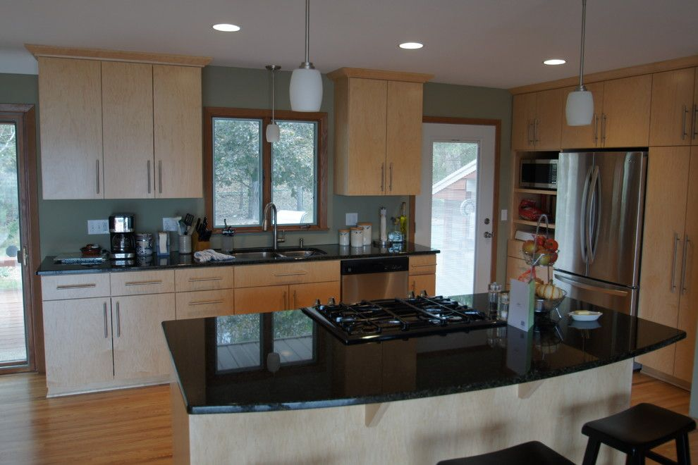 Swenson Granite for a Modern Kitchen with a Granite Countertop and Swenson Remodel by Imperial Home Improvement