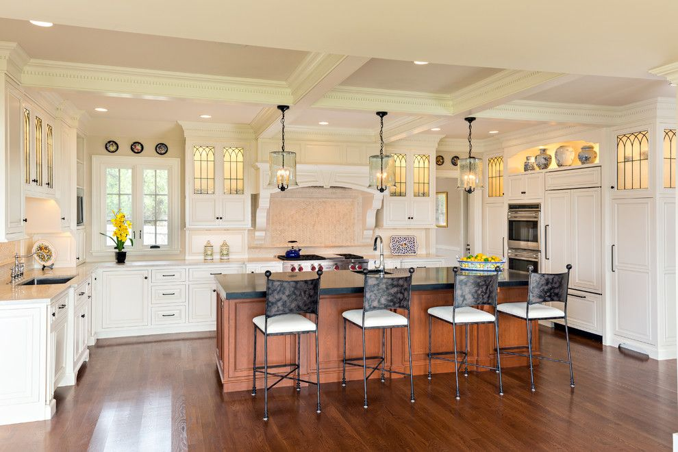 Swenson Granite for a Traditional Kitchen with a Grabill Cabinets and Osterville Kitchen Featured on Houzz as