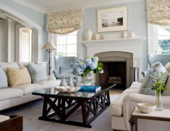 Swiss Coffee Paint for a Traditional Family Room with a Sofa and Classic Family Home by Plum Interiors