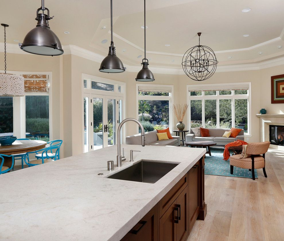 Taj Mahal Granite for a Traditional Kitchen with a Restoration Timber and First Place Winner, 2013 by Trg Architects