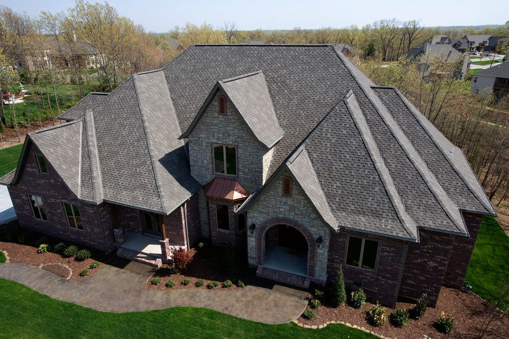 Tamko Heritage for a  Spaces with a Grey Shingles and Residential Roofing by TAMKO Building Products, Inc.
