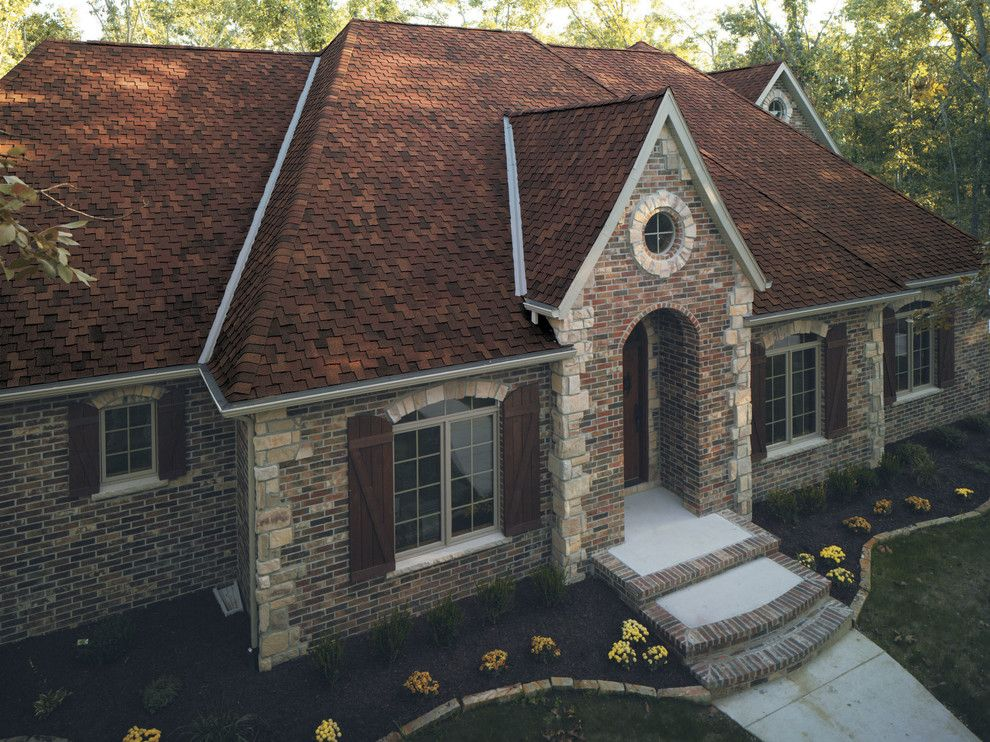 Tamko Heritage for a  Spaces with a Red Shingles and Residential Roofing by Tamko Building Products, Inc.