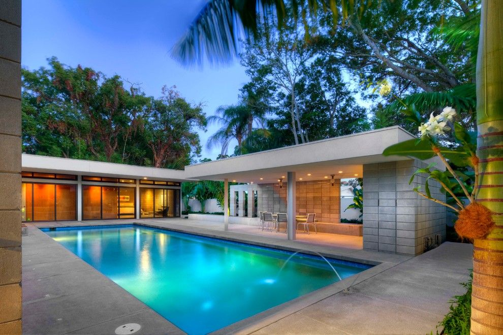 Tampa Bay Pools for a Modern Pool with a Concrete and Pool and Pergola by Dwy Landscape Architects