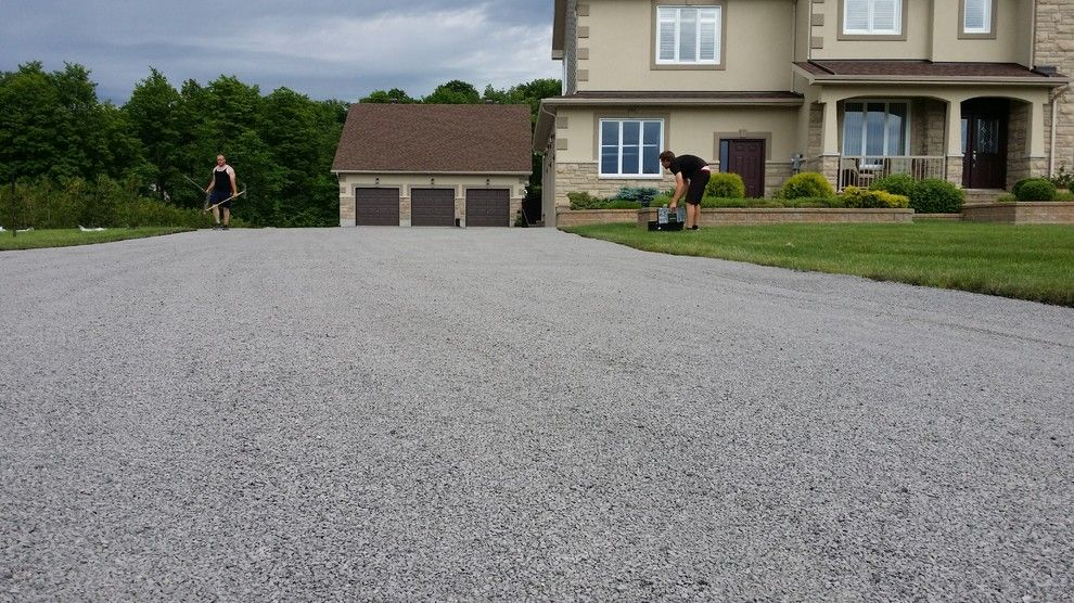 Tar and Chip Driveway for a Rustic Spaces with a Paving and Tar and Chip Ottawa by Tar and Chip Ottawa