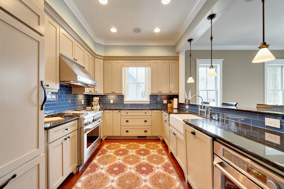 Taupe Paint for a Contemporary Kitchen with a Area Rug and Kitchen by Echelon Custom Homes