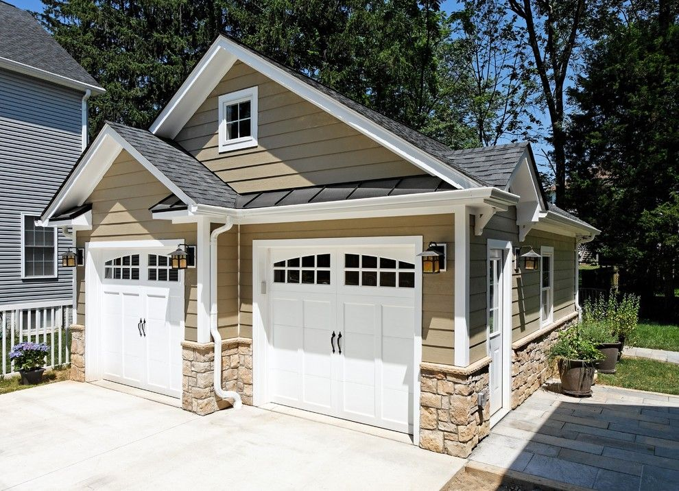 Taupe Paint for a Traditional Garage with a Detached Garage and Case Design/remodeling, Inc. by Case Design/remodeling, Inc.