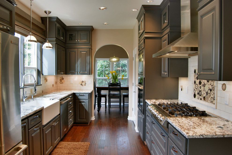Taupe Paint for a Traditional Kitchen with a Stainless Steel and Salem Tudor Remodel by Jason Ball Interiors, Llc