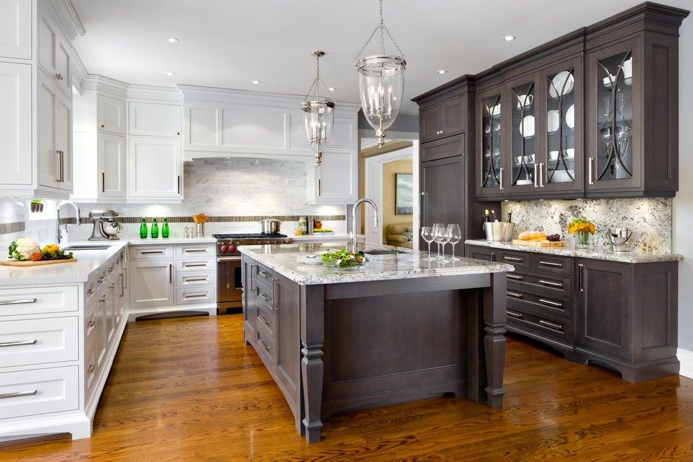 T&d Furniture for a Transitional Kitchen with a Glassware and First Place Award Winning Kitchen by Brice's Furniture