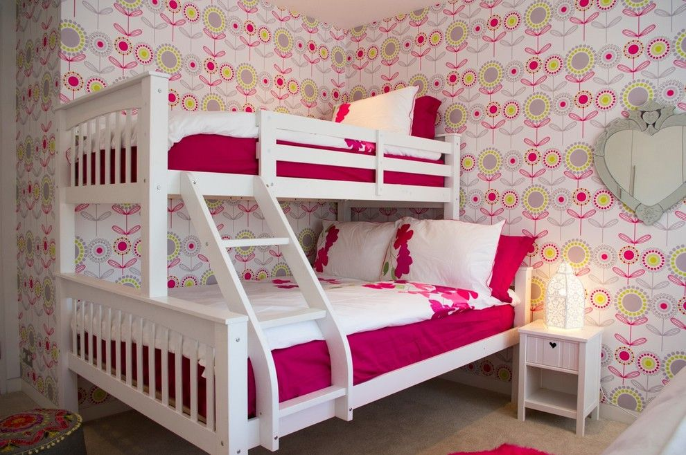 Teenage Girl Bedroom Ideas for a Contemporary Kids with a Space Saving Ideas for Small Bedrooms and Girls Bedroom by Lli Design