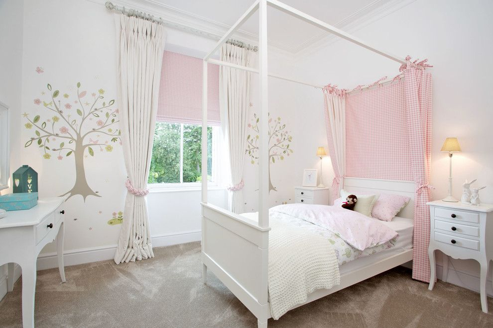 Teenage Girl Bedroom Ideas for a Traditional Kids with a Dressing Table and Orchid Newton by Pf Furnishings Ltd T/as Paul Fisher