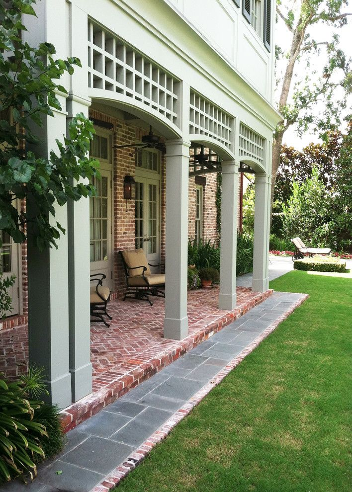 Tellepsen for a Traditional Porch with a Traditional and Inverness Southern Garden by Tellepsen Landscaping
