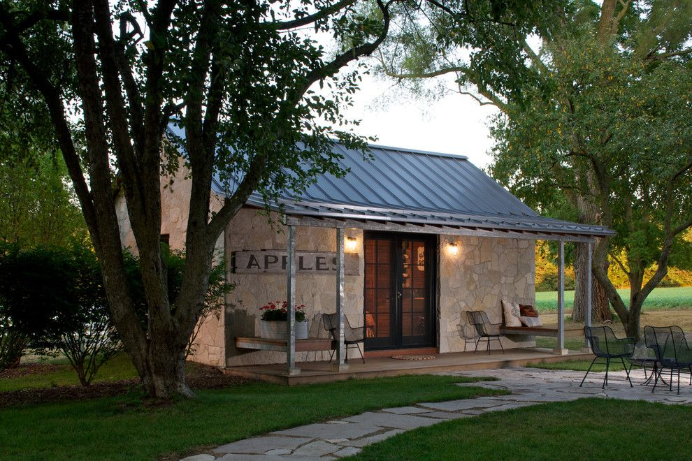 Texas Casual Cottages for a Eclectic Exterior with a Guest House and Stone House by Northworks Architects and Planners