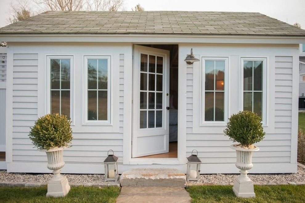 Texas Casual Cottages for a Farmhouse Shed with a Farmhouse and Flanagan Farm Portland Maine by Nastasi Vail Design