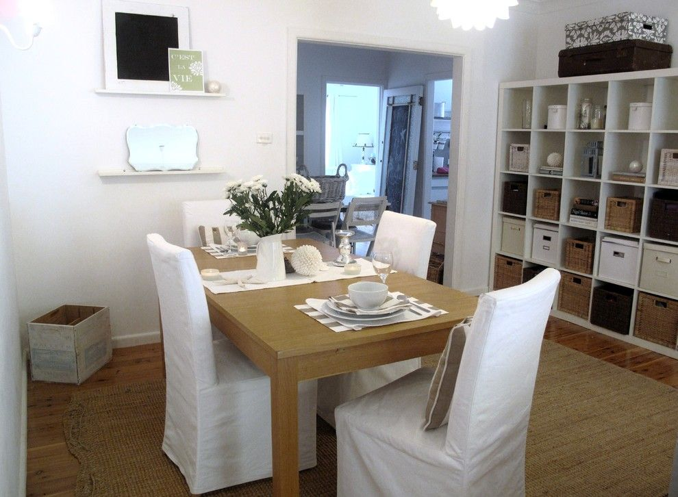 Texas Casual Cottages for a Shabby Chic Style Dining Room with a White and a Beach Cottage by a Beach Cottage