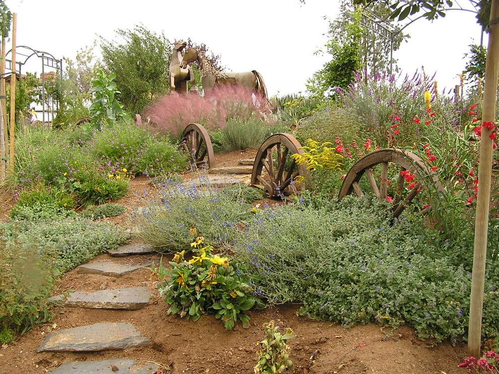 Texas Ranger Plant for a Southwestern Landscape with a Walkway and Jane C. Gates by Gates & Croft Horticultural Design