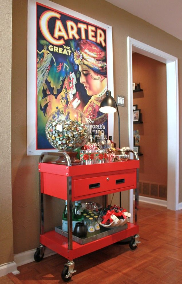 Texas Tool Traders for a Eclectic Family Room with a Bar Cart and Christmas at the Cavender House by the Cavender Diary