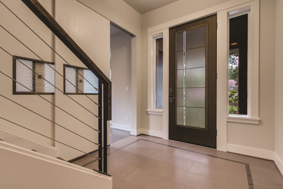 Therma Tru Doors for a Modern Entry with a Modern and Fiber Classic Mahogany Door by Therma Tru Doors