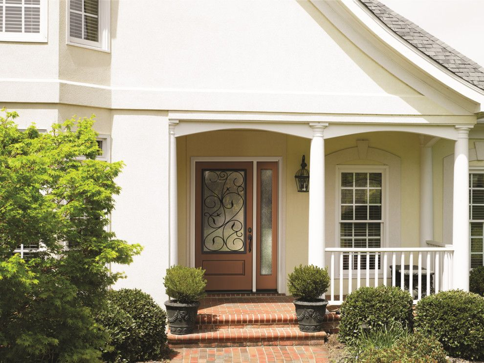 Therma Tru Doors For A Transitional Entry With A Classic And Classic Craft  Canvas Collection Fiberglass