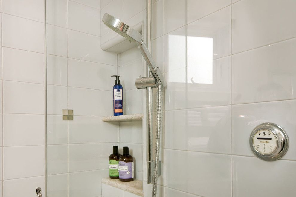 Thermasol for a Contemporary Bathroom with a Steam Shower System and Pool House Bathroom by Bill Fry Construction - Wm. H. Fry Const. Co.