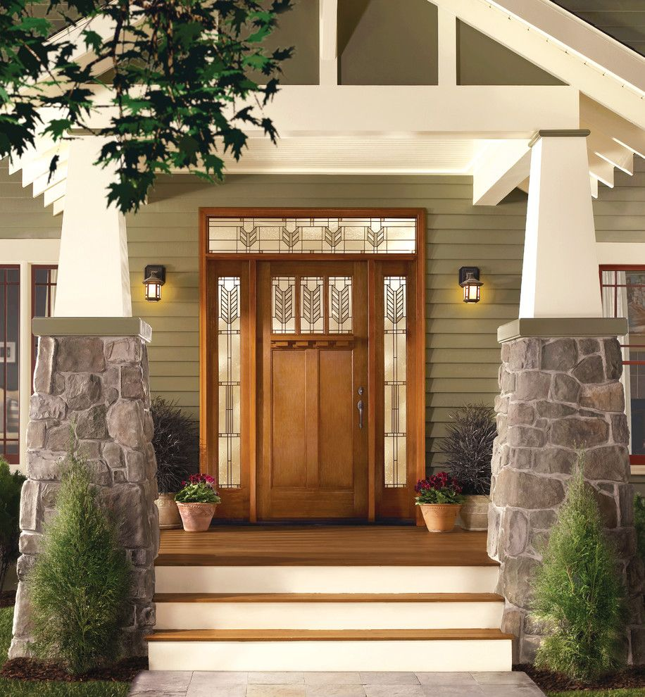 Thermatru for a Craftsman Porch with a Doors with Sidelights and Classic Craft American Style Door, Sidelites and Transom by Therma Tru Doors