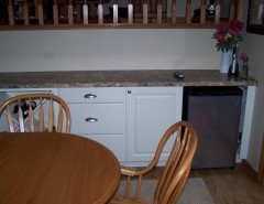 Thermofoil for a Transitional Kitchen with a Kitchen and After- Homecrest White Thermofoil Kit, Williams Bay, Wi by the Cabinet Gallery at Dunn Lumber