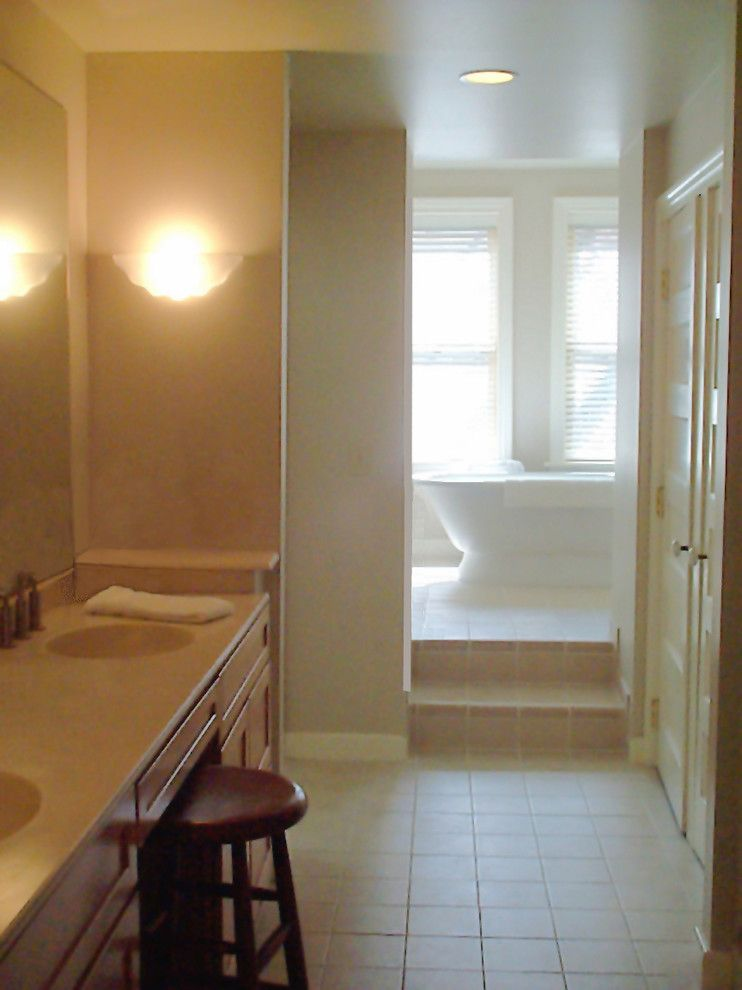 Tile Market of Delaware for a Eclectic Bathroom with a Master Bath and Hudson Valley Design by Hudson Valley Design
