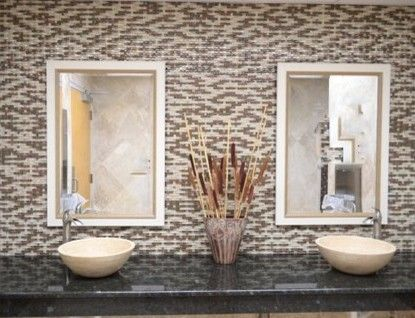 Tile Outlets of America for a Traditional Bathroom with a Glass Mosaic and Tile Outlets of America Restroom Remodel by Tile Outlets of America