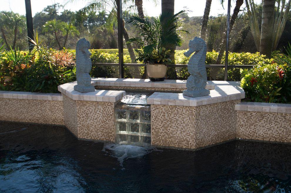 Tile Outlets of America for a Tropical Spaces with a Travertine Spa Surround and Travertine Pool Decking by Tile Outlets of America Sarasota