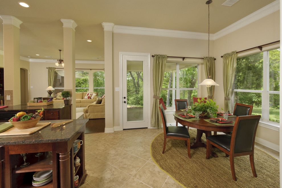 Tilson Homes for a Traditional Kitchen with a Island and the Lancaster by Tilson Homes
