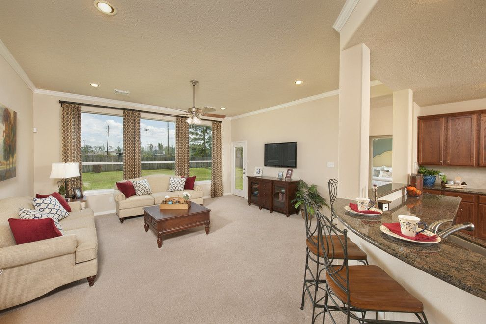 Tilson Homes for a Traditional Living Room with a the Nueces and the Nueces by Tilson Homes