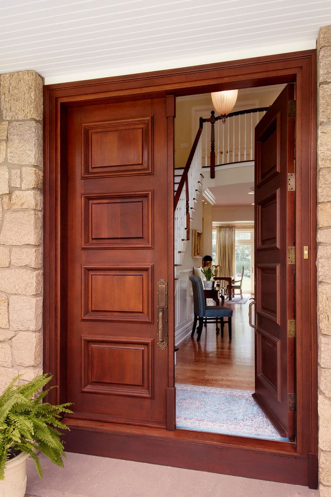 Tim O Brien Homes for a Traditional Entry with a Entry Doors and Guilford, Ct. Residence by Grande Interiors