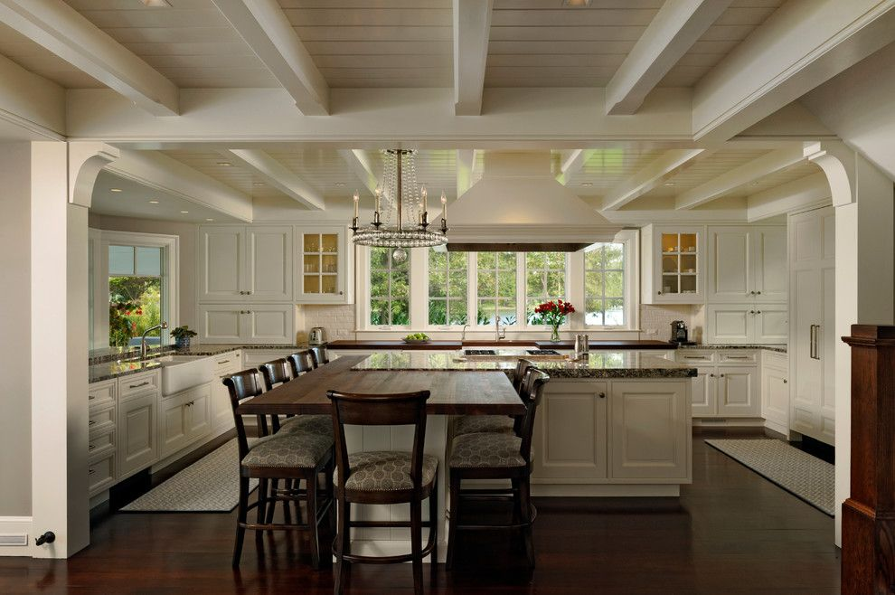 Tim O Brien Homes for a Traditional Kitchen with a Chandelier and on the Eastern Shore by Jennifer Gilmer Kitchen & Bath