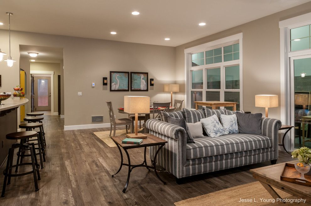 Timberland Homes for a Beach Style Family Room with a Beach Style and Kingston Model Home by Timberland Homes Inc.