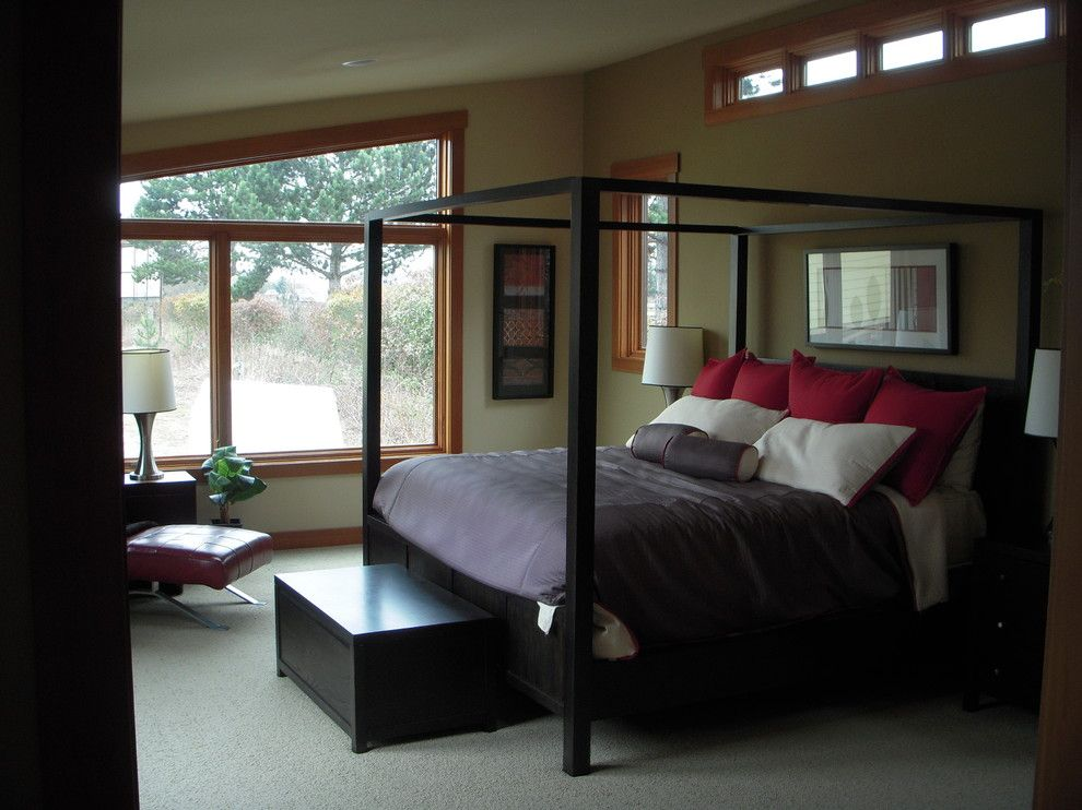Timberland Homes for a Contemporary Bedroom with a High Windows and Leschi Custom Modular Home by Timberland Homes Inc.