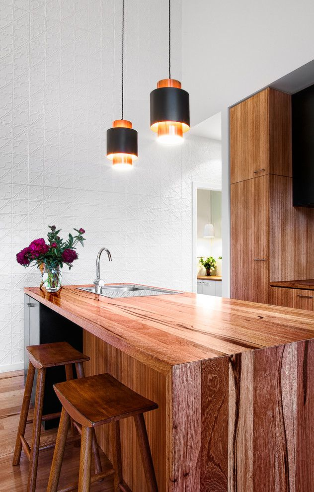 Timberpeg for a Contemporary Kitchen with a Beach Cottage and Barwon Heads Beach House Kitchen by Auhaus Architecture