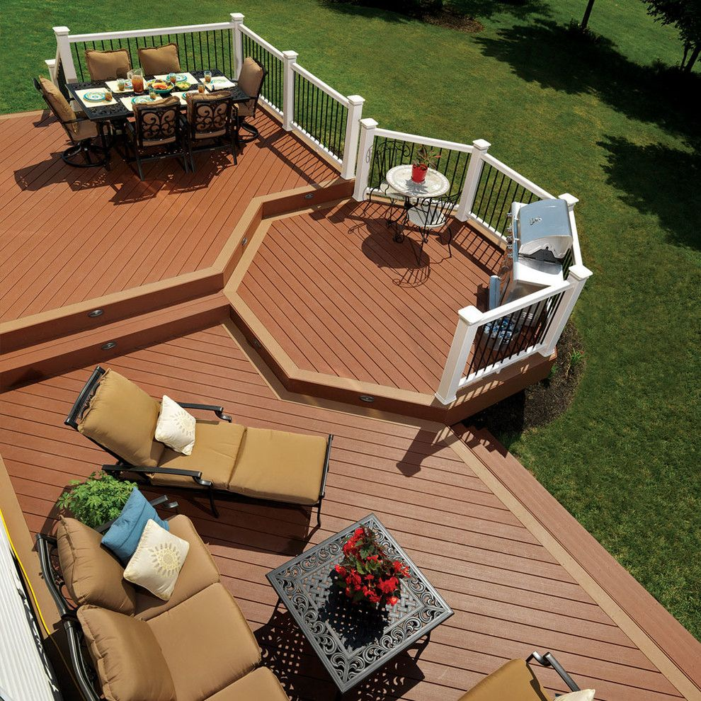 Timbertech for a Traditional Deck with a Traditional and Timbertech by Timbertech