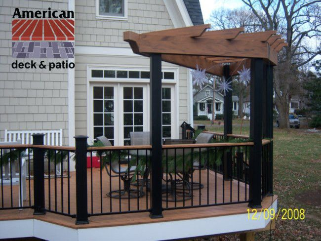 Timbertech for a Traditional Patio with a Deck Builder and Timbertech Trellis by American Deck and Patio