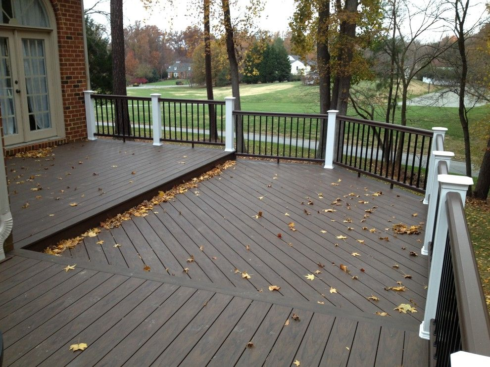 Timbertech for a Traditional Porch with a Deck Lights and Reeds Landing Deck Rebuild with Timbertech Xlm by Paragon Construction Company Llc